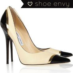 Jimmy Choo Heels 2013 | Jimmy Choo - Limit tri-tone leather pumps - Shoe Envy on Haute - A ...