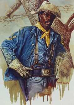 Buffalo Soldiers, America's First Park Rangers, Painting by Bobb Vann