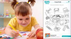 Coloriage : Le quiz de l'école T'choupi
