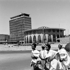 Henri Chomette Commercial Bank of Ethiopia Ethiopia Addis Ababa, History Of Ethiopia, Addis Abeba, Ethiopia Travel, Haile Selassie, Unusual Buildings, Tree Trunks, History Photos, Military History