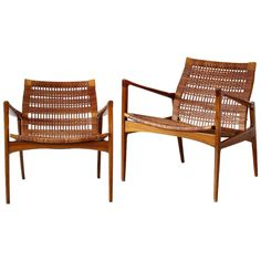A Pair of Wonderful Lounge Chairs Easy Chairs | From a unique collection of antique and modern lounge chairs at http://www.1stdibs.com/furniture/seating/lounge-chairs/