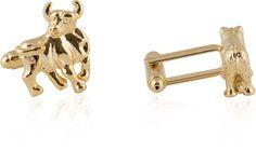 Detailed Gold Bull and Bear Cufflinks