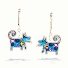 Blue Dog Earrings from the Artazia Collection #334BL NE: Jewelry: Amazon.com