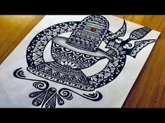Art Drawings Beautiful, Art Drawings For Kids, Art Drawings Sketches Simple, Doodle Art Drawing, Mandala Drawing, Zentangle Drawings, Mandala Art Lesson, Mandala Artwork, Doodle Art Designs