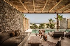 Kos' new hotel is Casa Cook - Elle Decor Italia Patio Design, Exterior Design, House Design, Outdoor Spaces, Outdoor Living, Outdoor Decor, Casa Cook Hotel, Hotels, Backyard Patio