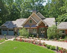 Awesome Ranch Home with Curb Appeal: Pamela Foster Traditional Exterior Facade With Green Grass At Front And Many Flowers Plus Small Path ~ aureasf.com Exterior Designs Inspiration