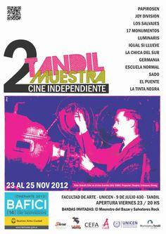 Cartel para 2° Muestra de Cine Independiente - Poster  - Tandil 2012