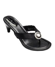 Lindsay Phillips Black Sandy Sandal by Lindsay Phillips #zulily #zulilyfinds