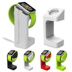 A great place to keep your Apple Watch clean and safe at night while charging. Simply place on the platform and use as a clock while charging.