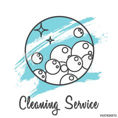 Wash business label for logotype template. Soap bubbles in round line icon with brush strokes on background. Business Labels, Cleaning Business Cards, Business Logo, Business Card Design, Cleaning Service Logo, Cleaning Services Company, Cleaning Companies, How To Clean Crystals, Crystal Clean