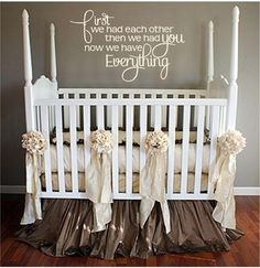 First we had each other.. then we had you.. Now we have everything.. Love this! Absolutely adorable - Click image to find more Kids Pinterest pins