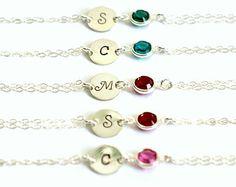 Personalized Bracelet Infinity Bracelet Initial by earringsnation
