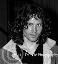 8413 Jim Morrison head shot at the Coliseum in Phoenix Arizona on 2-17-68. Photo by Tom Franklin.