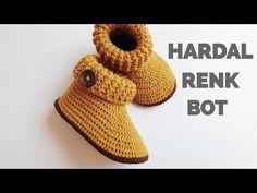 How To Crochet Cute Baby Booties - Crochet Patterns Crochet Baby Shoes, Crochet For Boys, Crochet Baby Booties, Crochet Slippers, Learn To Crochet, Baby Blanket Crochet, Crochet Clothes, Boy Crochet, Flower Crochet