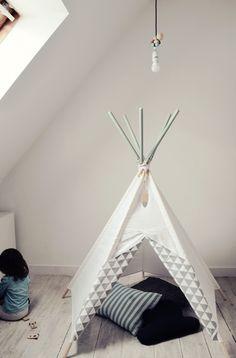 littlenomad teepee tipi wigwam play tent handmade white gray mint kidsroom https://www.facebook.com/HelloLittleNomad