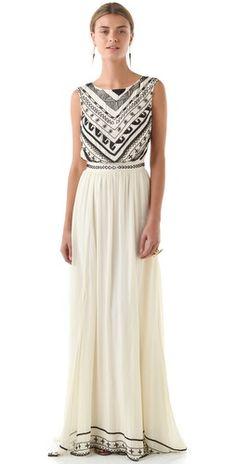Mara Hoffman Beaded Silk Chiffon Gown   SHOPBOP