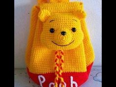 Mochila o Morral de WINNIE POOH tejido a crochet o ganchillo PARTE 1 - YouTube