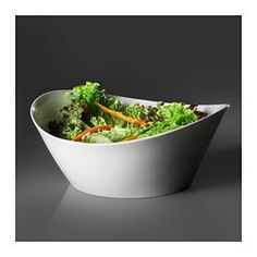 IKEA - SKYN, Serving bowl, Made of the finest quality bone china which means the bowl is very thin and delicate, while being extremely resistant to impact and very durable.With its creamy white color and luster, this dinnerware creates a beautiful table setting for everyday as well as special occasions.