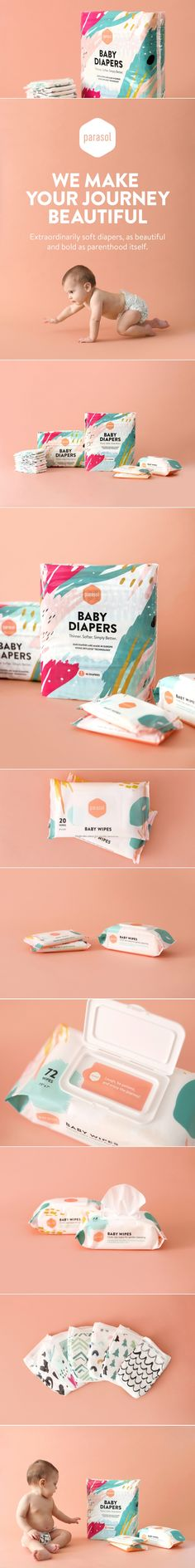 Parasol Co Diapers + Wipes — The Dieline | Packaging & Branding Design & Innovation News