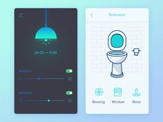 Daily UI #02  It's a smart home app. If this then that. If after 12 o'clock in the evening, I open the bedroom lights automatically help I open the lid of the toilet lamps and toilet, after finishe...