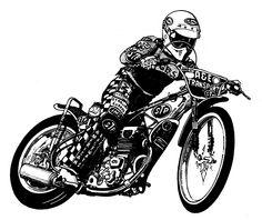 graphic speedway bike