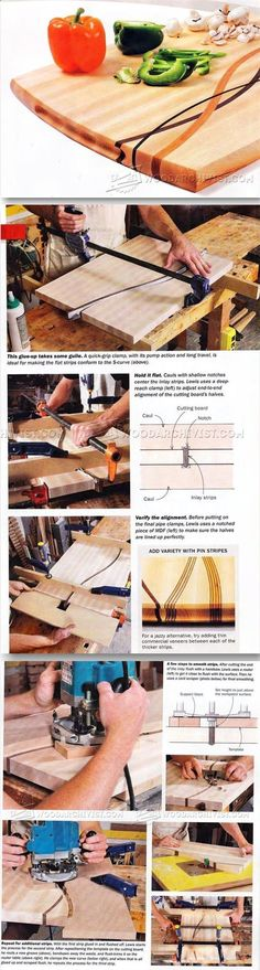 Plans of Woodworking Diy Projects - Cutting Board Plans and Projects - Woodworking Plans and Projects | WoodArchivist.com Get A Lifetime Of Project Ideas & Inspiration!