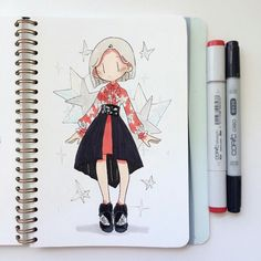 Matteo Innominato on Behance Copic Drawings, Cartoon Drawings, Cute Drawings, Cute Art Styles, Cartoon Art Styles, Art Manga, Anime Art, Copic Art, Arte Sketchbook