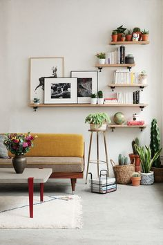Layered shelves.