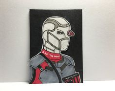 "2.5"" x 3.5 Suicide Squad Deadshot Sketch Card"
