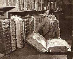 Back in the day when books were ENORMOUS. Pre-Kindle. From The Archives Of Prague Castle.