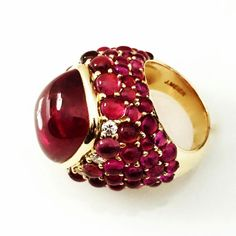 A MUST have! Rubelite & Diamond statement ring. www.johnmeierfinejewelry.com