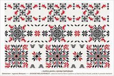Semne Cusute: Romanian traditional motifs Cross Stitch Bird, Cross Stitch Borders, Cross Stitch Patterns, Folk Embroidery, Embroidery Patterns, Knitting Patterns, Moldova, Beading Patterns, Needlepoint