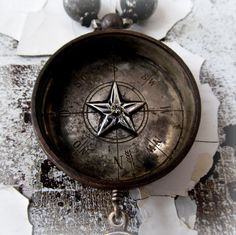 MY+COMPASS++an+antique+compass+and+stella+maris+necklace+by+StLuke,+$156.00