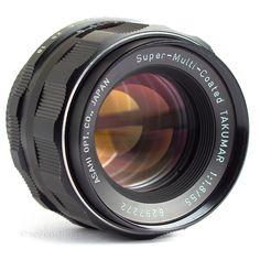 Pentax 55mm f1.8 Super Multi Coated Takumar Lens M42 DSLR Adaptable EOS BMCC MFT