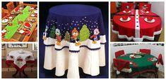 Aprende cómo hacer lindos individuales para esta navidad ~ Haz Manualidades Advent Calendar, Christmas Holidays, Holiday Decor, Mantel Redondo, Home Decor, Napkins, Towels, Xmas, Christmas Stairs Decorations