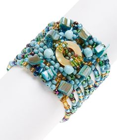 Look at this Turquoise Mermaid Stretch Bracelet on #zulily today!