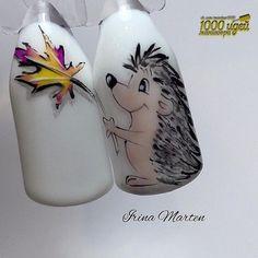 Winter Nails Designs - My Cool Nail Designs Fall Nail Art Designs, Colorful Nail Designs, Cool Nail Designs, Cute Nail Art, Cute Nails, Pretty Nails, Deco Disney, Gel Nagel Design, Animal Nail Art