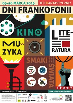 Dni Frankofonii w Polsce : l'affiche de la Francophonie 2013 en Pologne, réalisée par Lukasz Dudasz