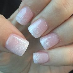 Nexgen ombré pink and white with sparkles!!!