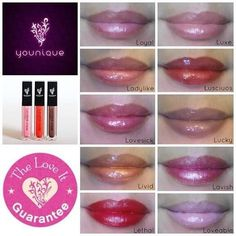 Brighten your smile with Younique's Lip Glosses and Lip Liners!