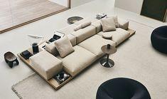 Dock, système de canapé modulable par Piero Lissoni pour B&B Italia