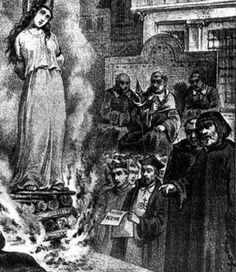 The dark side of the Middle Ages.   Inquisitions (1300-1400s) were the church's effort to eradicate heresy. They went around from town to town finding people they believed were heretics and put them on trial. The most famous part of this was the witch hunt where they suspected innocent people, mainly women, to be witches and put them to death.