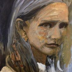 "Serpent House, Oracles & Evacuations series, oil paintings on paper, ~7"" x 7.5"", Sarah Zar"