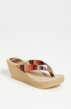 Sbicca 'Andes' Wedge Sandal | Nordstrom  this one reminds me of the Mexican blankets