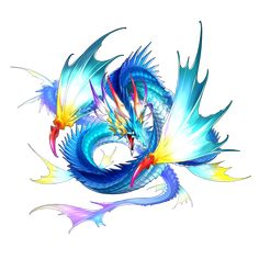 A page for describing Characters: Dragalia Lost Recruitable Dragons Water. Fantasy Drawings, Fantasy Art, Leviathan Tattoo, Describing Characters, Beast Creature, Water Dragon, Tv Tropes, Dragon Design, Monster Design