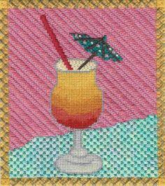 Bongo Mai Tai needlepoint, stitch guide from Napa Needlepoint