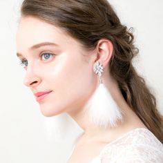 Plumes/プリュム Drop Earrings, Jewelry, Fashion, Feather, Moda, Jewlery, Bijoux, Fashion Styles, Schmuck