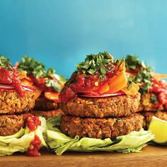Thai Peanut Burgers: These veggie burgers are an infusion of some of my favorite Thai flavors. The chickpea base is incredibly hearty, peanut butter and soy sauce add loads of flavor, and chili garlic sauce ties everything together with a little heat. Serve with peanut sauce and fresh carrots for extra sweetness and crunch. Reprinted from Minimalist Baker's …