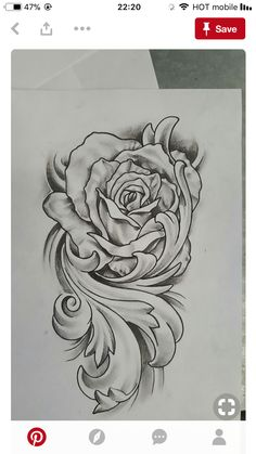Rose with flourish tattoo design rose drawing tattoo, tattoo sketches, tattoo drawings, manga Rose Drawing Tattoo, Tattoo Sketches, Tattoo Drawings, Filigree Tattoo, Gothic Tattoo, Floral Tattoo Design, Flower Tattoo Designs, Flourish Tattoo, Tattoo Studio