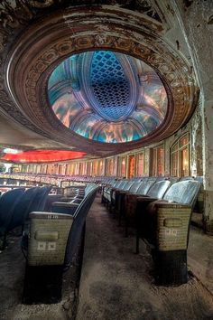 Uptown Theatre in Chicago - Photo by eric holubow architecture decay ruins abandoned buildings places architecture decay ruins abandoned buildings places.this hurts my heart abandonado Abandoned Buildings, Abandoned Mansions, Old Buildings, Abandoned Places, Abandoned Castles, Abandoned Cars, Urban Decay Photography, Chicago Photos, Ansel Adams